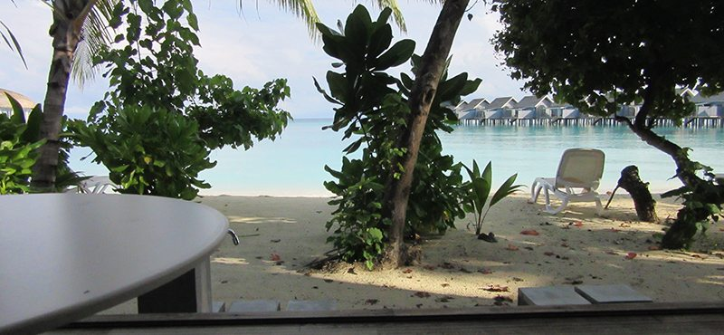 view from bungalow - kuramathi island resort